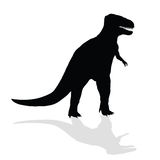 Dinosaur  silhouette Stock Images