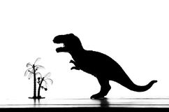 Dinosaur. Silhouette of dinosaur call tyrannosaurus royalty free stock photos