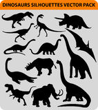Dinosaur silhouettes royalty free illustration