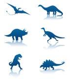 Dinosaur silhouettes Stock Photo