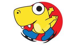 Dinosaur Skating Stock Photo