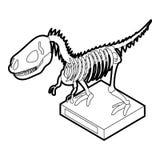 Dinosaur skeleton icon, outline style. Dinosaur skeleton icon in outline style on a white background vector illustration Stock Image