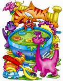 Dinosaur soup royalty free illustration