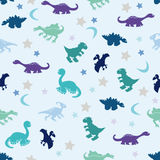 Dinosaur among the stars Stock Images