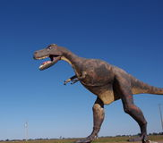 Dinosaur Statue Against A Prairie Sky Patricia Alberta stock photos