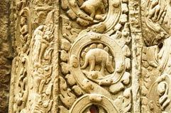 Dinosaur statue at Angkor Wat Stock Photography