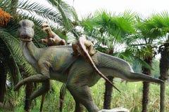 Dinosaur statues Stock Photos
