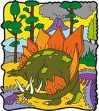 Dinosaur Stegosauro. Dinosaur  Stegosauro primitive  vegetarian  reptile dragon of the fables Royalty Free Stock Images