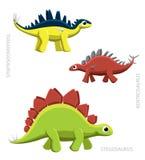 Dinosaur Stegosaurs Vector Illustration Stock Photos