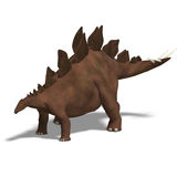 Dinosaur Stegosaurus. 3D render with clipping path and shadow over white Stock Photo