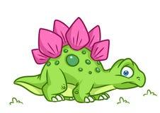 Dinosaur  Stegosaurus cartoon Illustrations Royalty Free Stock Photos