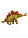 Dinosaur:stegosaurus. Its back has a row of huge bone plate, and with sharp thorn tail to defend against predators Stock Photo
