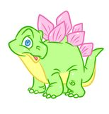 Dinosaur Stegosaurus little Cute color Royalty Free Stock Photo