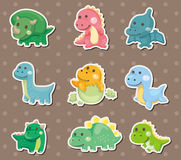 Dinosaur stickers Royalty Free Stock Photo