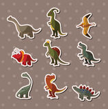 Dinosaur stickers. Cartoon vector  illustration Royalty Free Stock Images