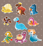 Dinosaur stickers Royalty Free Stock Photography
