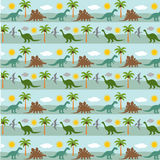 Dinosaur stripe. Background pattern on blue royalty free illustration