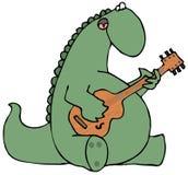 Dinosaur Strumming A Guitar Stock Photography