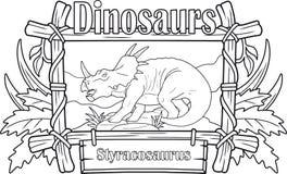 Dinosaur, styracosaurus, kolorystyki książka Zdjęcie Royalty Free