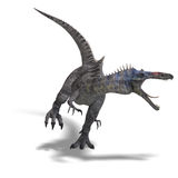 Dinosaur Suchominus. 3D rendering with clipping path and shadow over white royalty free illustration