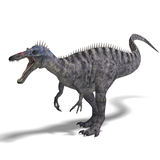 Dinosaur Suchominus. 3D rendering with clipping. Path and shadow over white Stock Images