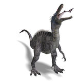 Dinosaur Suchominus. 3D rendering with clipping. Path and shadow over white Royalty Free Stock Photography