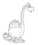 Dinosaur surprised Royalty Free Stock Images