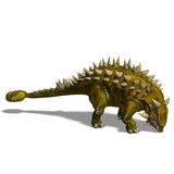 Dinosaur Talarurus. 3D render with clipping path and shadow over white Royalty Free Stock Photos