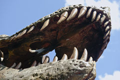 Dinosaur Teeth and Jaw Royalty Free Stock Photography