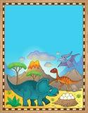 Dinosaur theme parchment 3. Eps10 vector illustration royalty free illustration