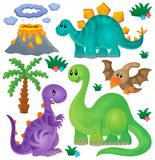 Dinosaur theme set 1 Stock Photos
