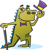 Dinosaur with Top Hat Royalty Free Stock Photography