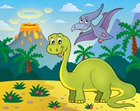 Dinosaur topic image 2 Stock Images