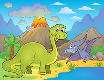 Dinosaur topic image 9 Royalty Free Stock Image