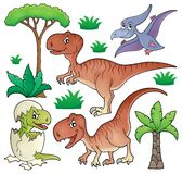 Dinosaur topic set 1. Eps10 vector illustration Royalty Free Stock Photography