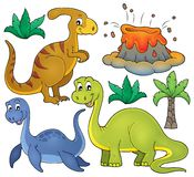 Dinosaur topic set 3. Eps10 vector illustration Royalty Free Stock Photography