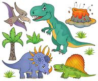 Dinosaur topic set 4 Stock Image