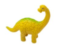 Dinosaur toy. Diplodocus - prehistoric era dinosaur on white Royalty Free Stock Photos