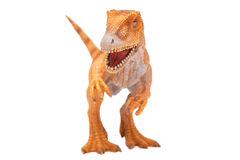 Dinosaur toy. (Tyrannosaurus Rex) isolated on white stock photo