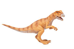 Dinosaur toy. (Tyrannosaurus Rex) isolated on white stock image