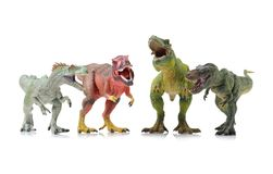Dinosaur toy. On white background stock photo
