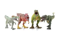 Dinosaur toy. On white background royalty free stock photos