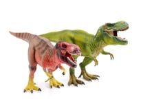 Dinosaur toy. On white background stock image