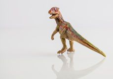 Dinosaur toy isolated on white Royalty Free Stock Photo