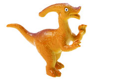 Dinosaur toy on white background Royalty Free Stock Images