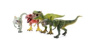 Dinosaur toy. On white background royalty free stock images