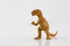 Dinosaur toy  on white Stock Image
