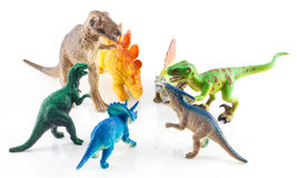 Dinosaur toys Stock Photos