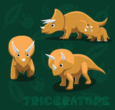 Dinosaur Triceratops Cartoon Vector Illustration Royalty Free Stock Photography