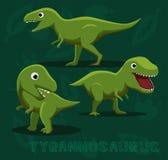 Dinosaur Tyrannosaurus Cartoon Vector Illustration Royalty Free Stock Photos